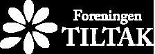 Foreningen Tiltak logo i hvit